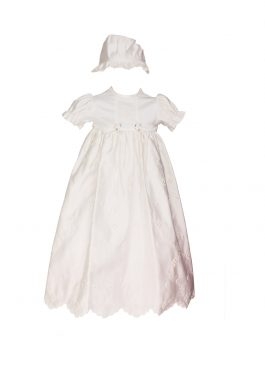 Baby Christening Ivory Matt satin Gown 123