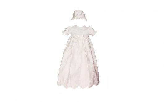 Baby Christening Ivory Matt satin Gown 123