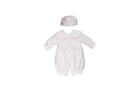 Baby Christening White satin Suit 125