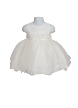 Baby Christening Ivory Tulle Dress 126