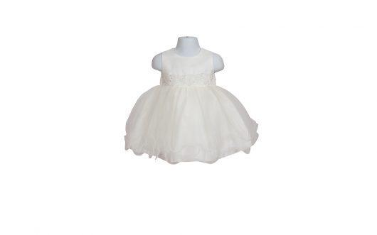 Baby Christening Ivory Tulle Dress 126