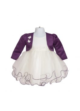 Baby Formal Purple Tulle Dress 128