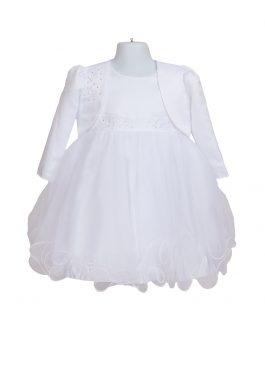 Baby Christening White Tulle Dress 127