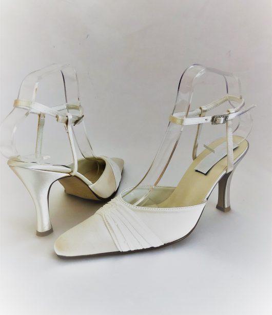 617 Winter White Satin Shoes