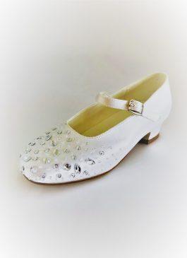 653 Children Snow White Satin Shoes