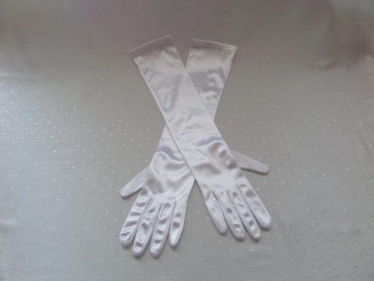 Long Satin Gloves