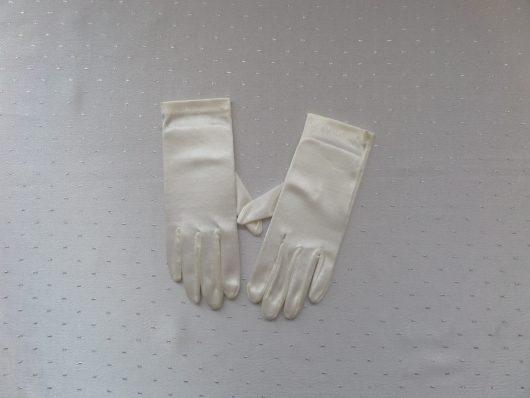 Children Plain Satin Gloves