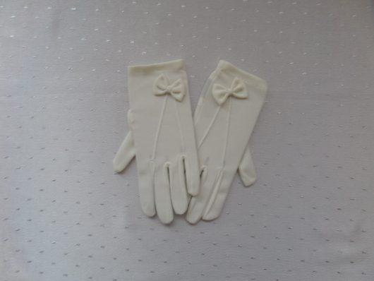 Children Nylon Gloves with Bow