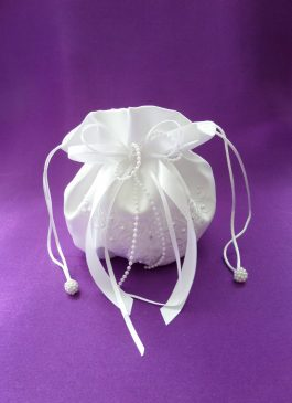 Girls White Dolly Bags