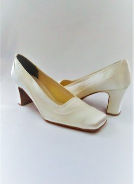 606 Winter White Satin Shoes