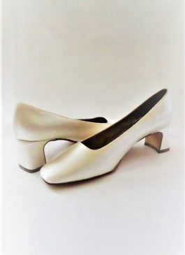 602 Winter White Satin Shoes