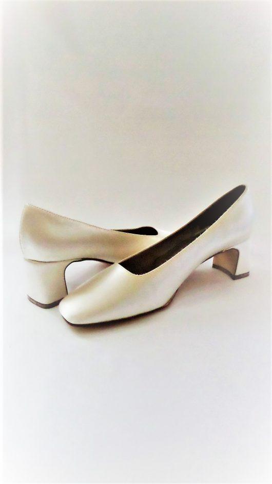 602 Winter White Satin Shoes