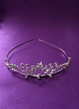 Silver Diamante Tiara