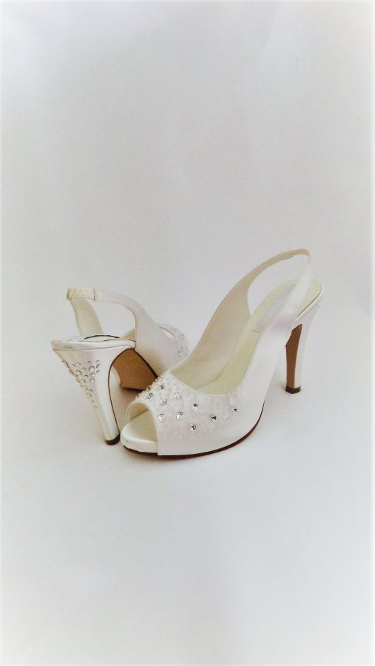 612 Snow White Satin Shoes