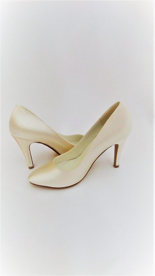 603 Winter White Satin Shoes