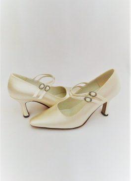 608 Winter White Satin Shoes