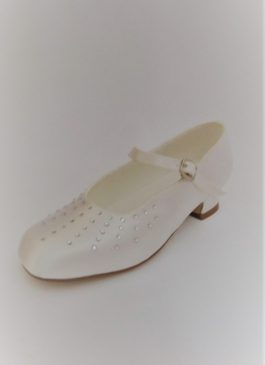651 Children Snow White Satin Shoes