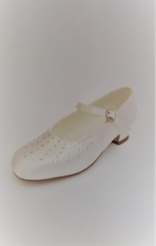 651 Children Snow White Satin Shoes