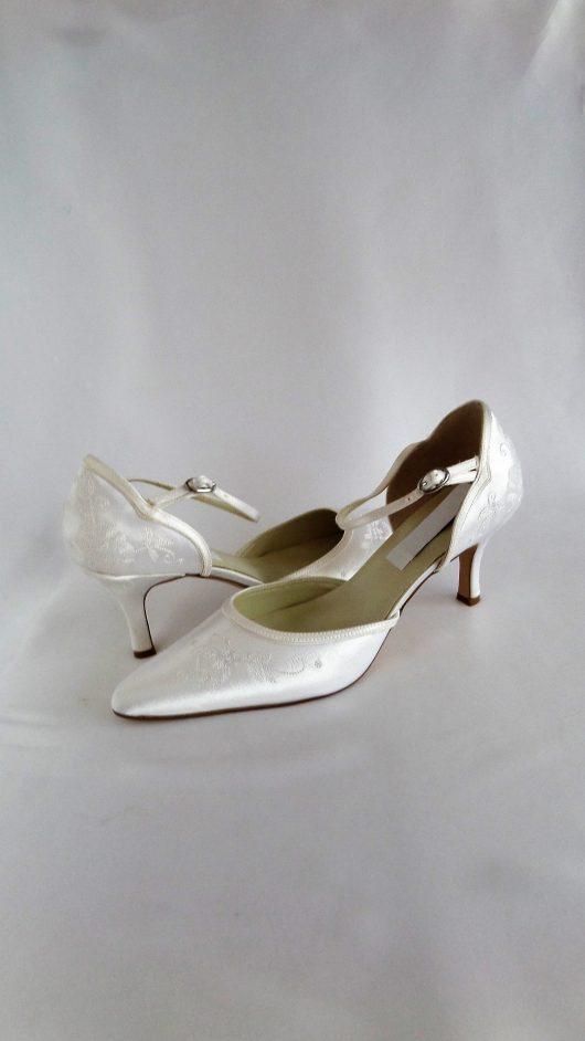 616 Snow White Satin Shoes