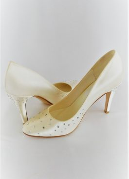 604 Winter White Satin Shoes